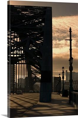 Silhouette Of Bridge, Newcastle Upon Tyne, Tyne And Wear, England