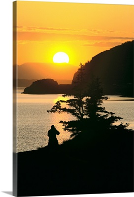 Silhouette of Person Turnagain Arm Sunset SC AK