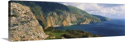 Slieve League, Co Donegal, Ireland, Cliffs On The Atlantic Coast