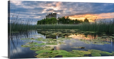 Small Castle On An Island On Lough Derg At Sunrise, Scariff, County Clare, Ireland