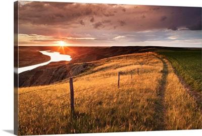 South Saskatchewan River Near Leader, Saskatchewan, Canada