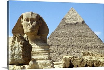 Sphinx And Khafra Pyramid