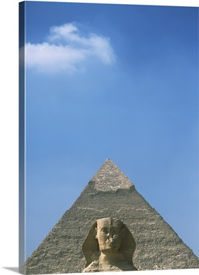 Sphinx In Front Of Pyramid Of Chephren, Egypt