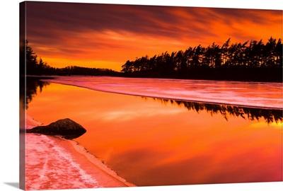 Spring Thaw Sunset, Rocky Lake, Nova Scotia, Canada