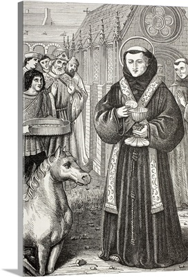 St. Anthony Of Padua, Demonstrate The Truth Of The Holy Sacrament, Circa 1880