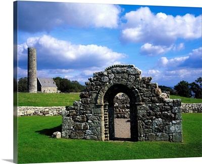St Brigid's Church, Inis Cealtra (Holy Island), Lough Derg, Co Clare, Ireland