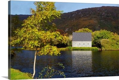 St. Finbarre's Oratory On Shore Of Gougane Barra Lake, Republic Of Ireland