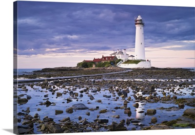 St Mary's Lighthouse, Whitley Bay, North Tyneside, Tyne And Wear, England