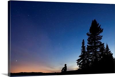 Star Gazing At Mackenzie Point Over Lake Superior, Ontario, Canada