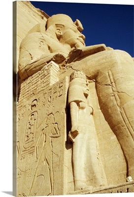 Statue Of Ramses II And Wife At Great Temple Of Ramses Ii, Abu Simbel
