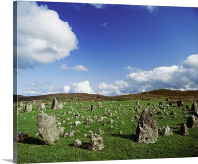 Stone Circles On A Landscape, Beaghmore Stone Circles, County Tyrone, Ireland