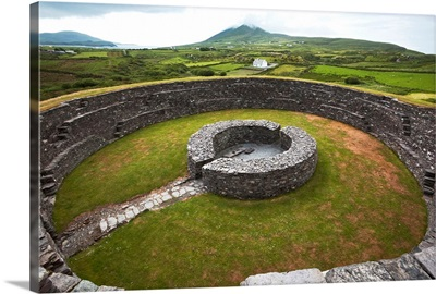 Stone fort Cahergall, Iveragh Peninsula, Ring of Kerry, County Kerry, Ireland