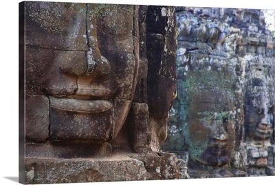 Stone Heads At Bayon Temple