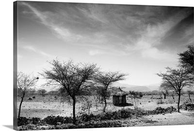 Stone Hut Set In Grassland Plains, Ethiopia