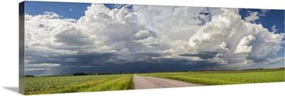 Storm clouds over the prairies, Winnipeg, Manitoba, Canada