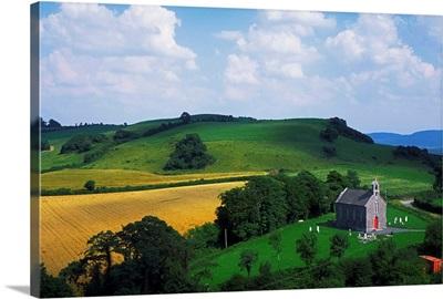 Stradbally, Co Laois, Ireland, Church Amid Fields