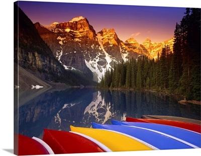 Sunrise At Moraine Lake Valley Of The Ten Peaks Banff National Park Alberta, Canada