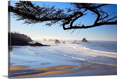 Sunrise On Indian Beach, Oregon, USA