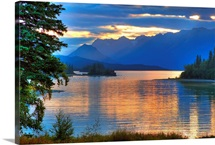 Sunrise on Lake Clark in Lake Clark National Park, Southcentral, Alaska, HDR image