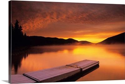 Sunrise On Nictau Lake, New Brunswick, Canada