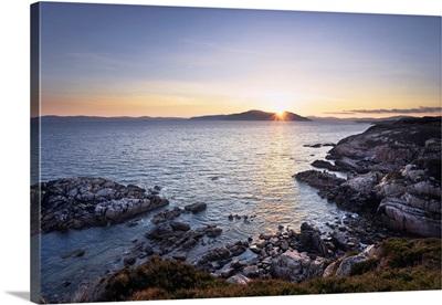 Sunrise Over Bay, Ross Of Mull, Argyll And Bute, Isle Of Mull, Inner Hebrides, Scotland