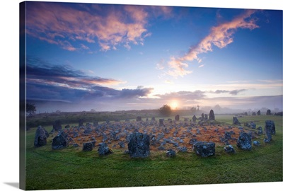 Sunrise Over Beaghmore Stone Circles, County Tyrone, Northern Ireland