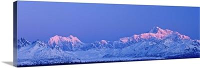 Sunrise Over Mt. McKinley And The Alaska Range, Denali State Park, Southcentral Alaska
