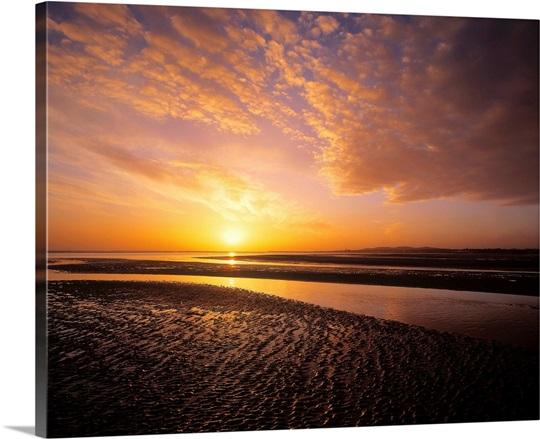 sunrise sandymount strand dun laoghaire county dublin ireland