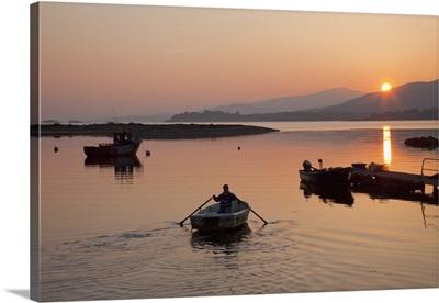 Sunset At Rosdohan Pier Near Sneem; County Kerry, Ireland