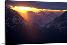Sunset Chilkat Mtns near Canadian border AK Southeast Summer Scenic Landscape Clouds