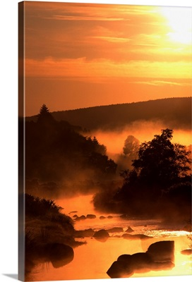 Sunset, Glendalough; Glendalough, Co Wicklow, Ireland