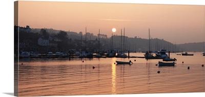 Sunset In The Harbor; Crosshaven, County Cork, Ireland