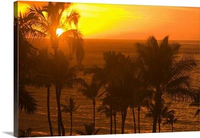 Sunset On Beach, Wailea, Hawaii, USA