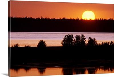 Sunset over Cook Inlet Southcentral Alaska Summer