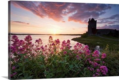 Sunset Over Dunguaire Castle, Kinvara, County Galway, Ireland