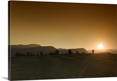 Sunset Over Field, Cumbria, England