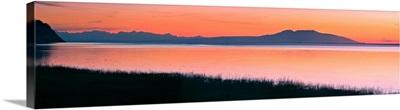 Sunset Over Mount Susitna Sleeping Lady Across Knik Arm, Southcentral Alaska