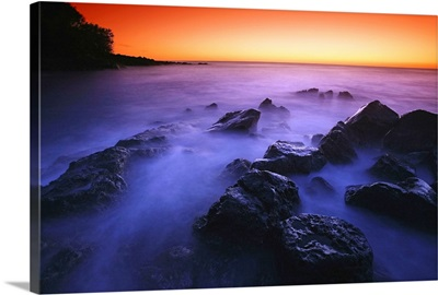 Sunset Over Water, Hawaii, Usa