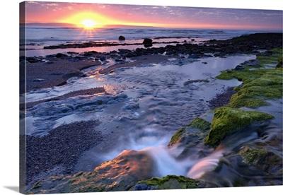 Sunset Over Water, Killala Bay, County Sligo, Ireland