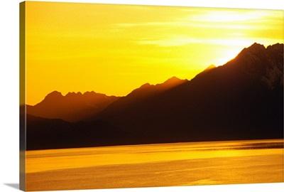 Sunset Prince William Sound SC Alaska Summer