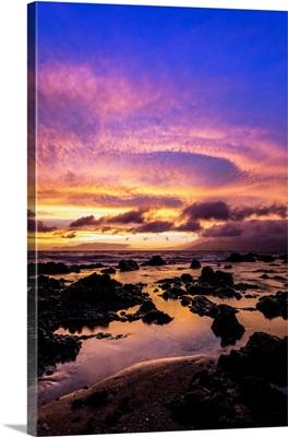 Sunset View From Wailea Coast, Maui, Hawaii