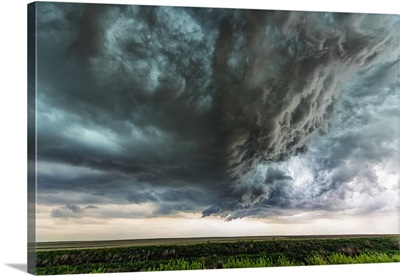 Supercell Thunderstorm Clouds, Colorado, United States Of America