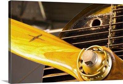 Switzerland, Close-up of propeller, Duebendorf