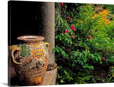 Temple And Garden Urn, The Wild Garden, Kilmokea, Co Wexford, Ireland