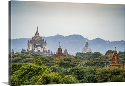 Thatbyinnyu Temple And Pagodas In The Morning Light, Bagan, Mandalay, Myanmar