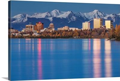 The Anchorage Skyline, Knik Arm, Cook Inlet, Anchorage, Alaska, USA