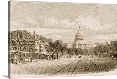 The Capitol Building, Washington, DC, In 1870s