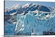The face of Surprise Glacier and Chugach Mountains in Surprise Inlet at Harriman Fjord