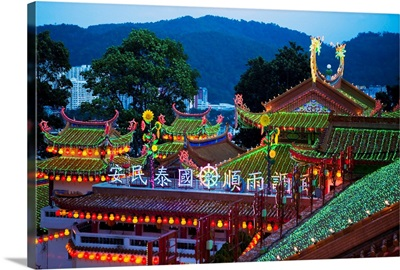 The fantastic lighting of Kek Lok Si Temple, Penang, Malaysia