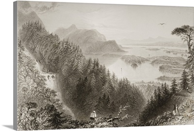 The Lower And Turk Lakes, Killarney, County Kerry, Ireland, By J.B.Allen. C.1841